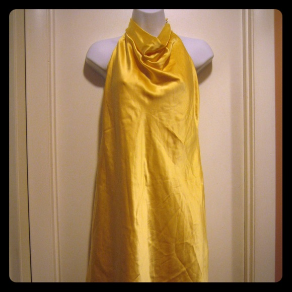 Laundry By Shelli Segal Dresses & Skirts - Laundry Yellow Silk Dress 10